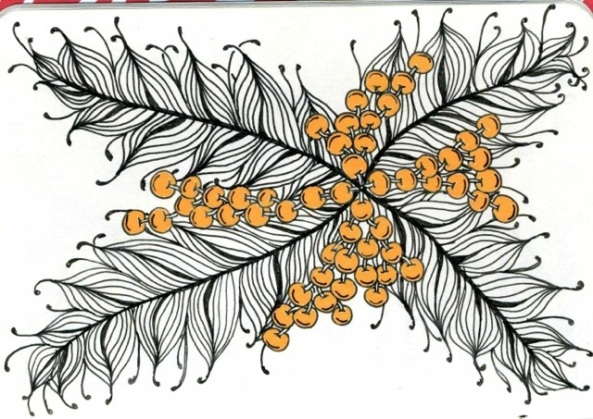 Rita Nikolajeva, CZT; dotslinespatterns.com; tangle ZIA notebook