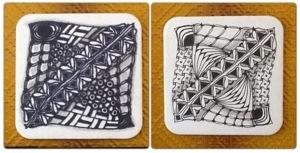 Rita Nikolajeva, CZT; dotslinespatterns.com; Lumocolor vs Pigment Liner