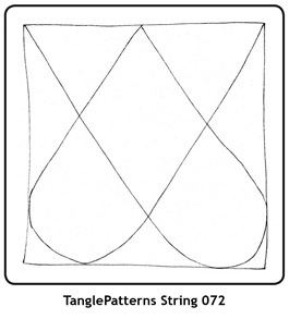 Rita Nikolajeva, CZT; dotslinespatterns.com; string published on tanglepatterns.com