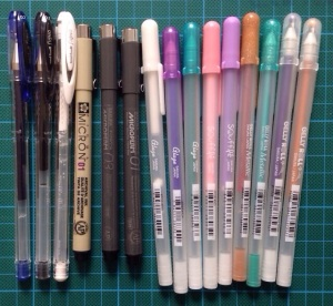 Uniball and Sakura pens.jpg